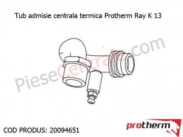 Poza Tub admisie centrala termica Protherm Ray K 13