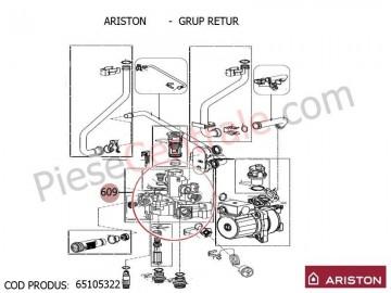 Poza Grup Retur centrale termica Ariston Clas/Genus Premium