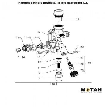 Poza Senzor debit (fluxostat) pentru centrale termice Motan Sigma 24 Epr/Motan Sigma 31 Epr. Poza 8276